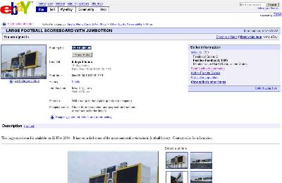 Jumbotron on ebay